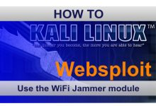 Websploit之Wifi Jammer模块